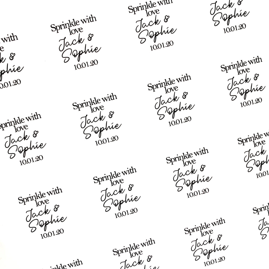 Biodegradable stickers - Dollz Confetti