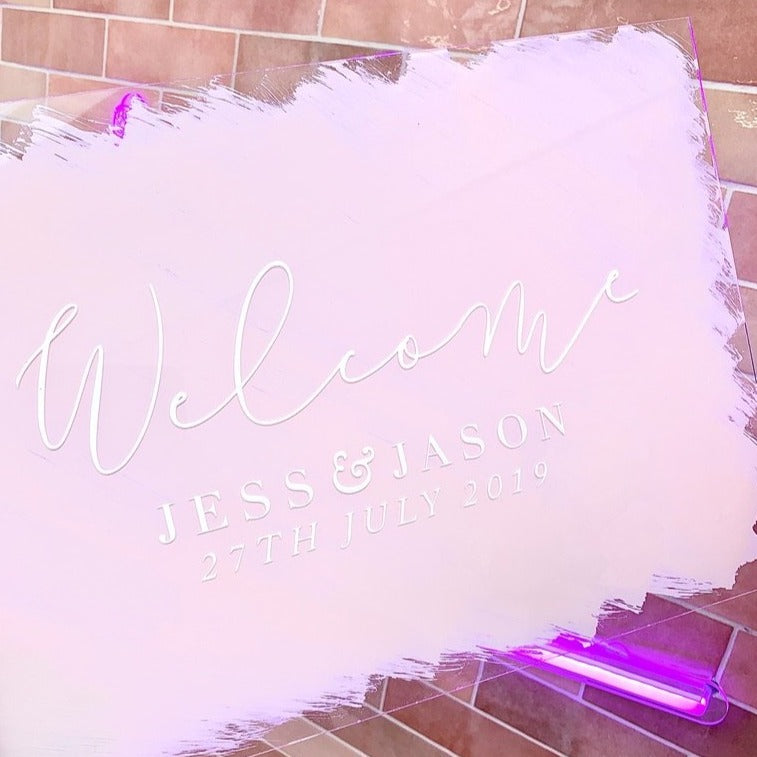 Welcome Acrylic Sign