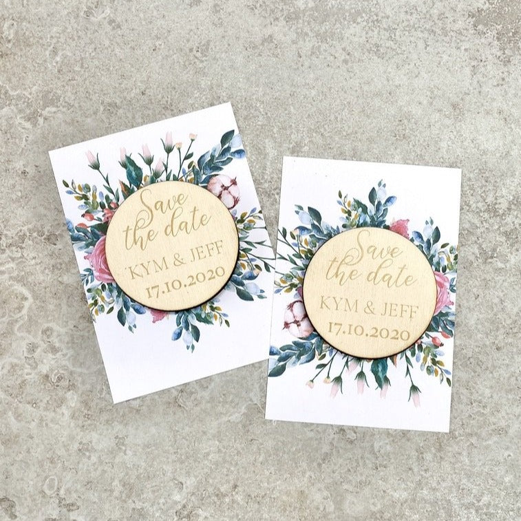 Wooden Save the Date