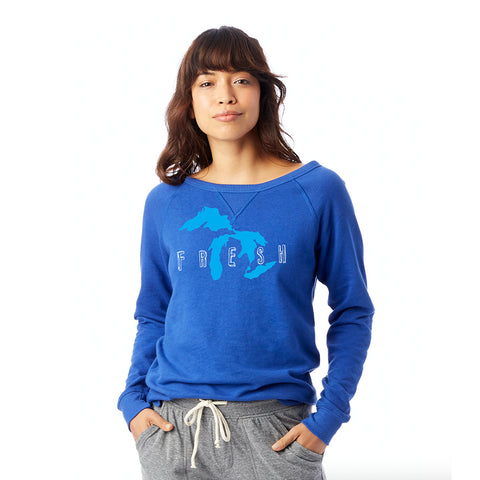 Fresh Ladies Vintage French Terry Sweatshirt