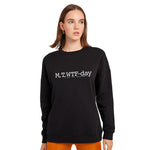 M, T, WTF-Day is it Anyway? Sponge Crew Neck