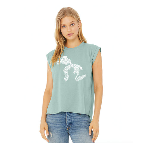 Most Coast Ladies Sleeveless Tee