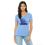 Road Trip Ladies Relaxed Fit V-Neck T-Shirt