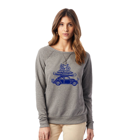 Road Trip Ladies Vintage French Terry Sweatshirt
