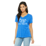Pajamas are the New Black Ladies Relaxed Fit V-Neck T-Shirt