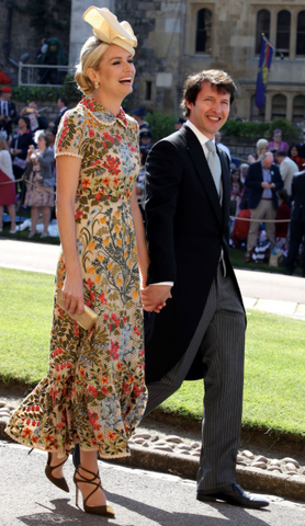 Sophia Wellesley arrives with James Blunt to the Royal Wedding of Prince Harry & Meaghan Markle