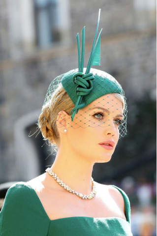 Lady Kitty Spencer in Philip Treacy Millinery & Dolce & Gabbana dress at the Royal Wedding