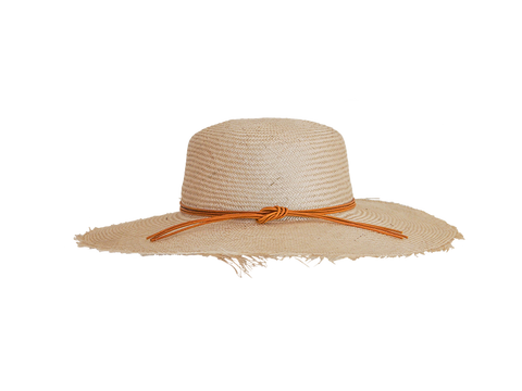 Womens natural straw sun hat, small, medium or large head sizes, 3 colour leather tie headband
