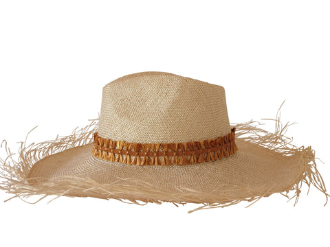 Sun hat, straw fedora, large brim, small, medium, large or extra large head sizes, caramel raffia headband