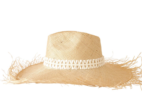 Sun hat, straw fedora, large brim, small, medium, large or extra large head sizes, white raffia headband