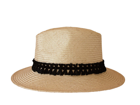 Sun hat, straw trilby, womens, small, medium, large or extra large head sizes, black raffia headband