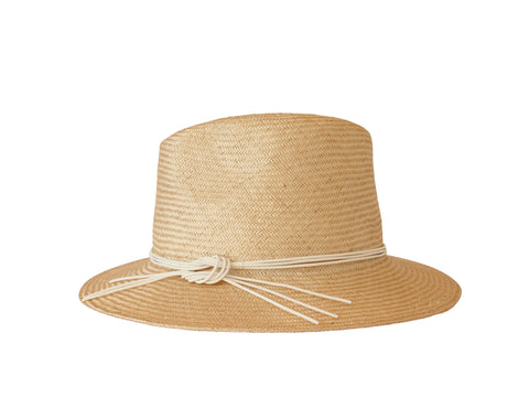 Sun hat, womens straw trilby, small, medium, large or extra large head sizes, white leather tie headband