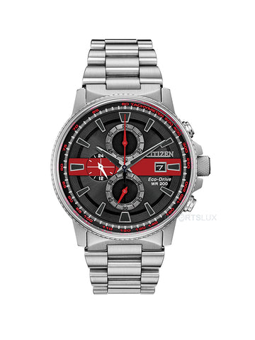 Citizen Eco Drive Slim Red Line Chronograph CA0299-57E
