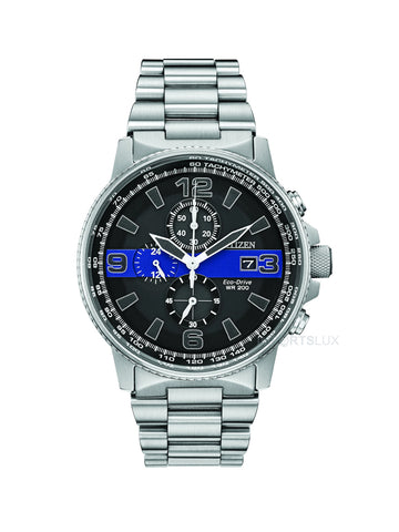 Citizen Eco Drive Slim Blue Line Chronograph CA0291-59E