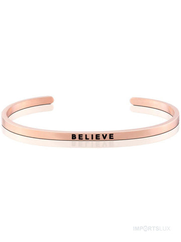 Pulseira Mantra Believe Rose