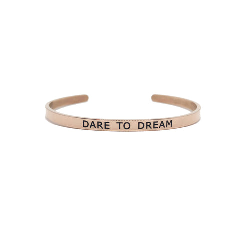 Pulseira Mantra Dare to Dream Rose