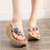 2020 new bohemian high-heeled non-slip beach sand thick flip-flops-50% OFF