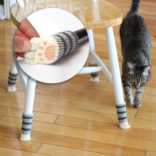 30% OFF Cute Paw Socks for Chairs and Tables (1 Set)