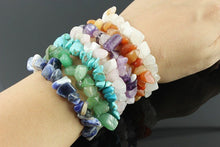 Load image into Gallery viewer, Gem chip bracelets (9 varieties-click for choice)