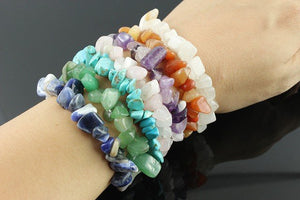 Gem chip bracelets (9 varieties-click for choice)