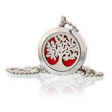 Load image into Gallery viewer, Aromatherapy diffuser necklace- Tree of Life 25mm