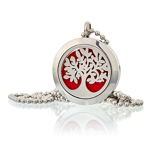 Aromatherapy diffuser necklace- Tree of Life 25mm