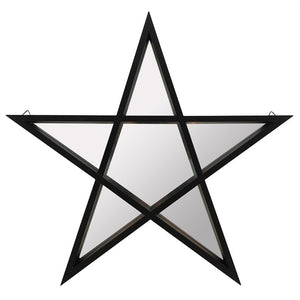 Black Framed Pentagram Mirror