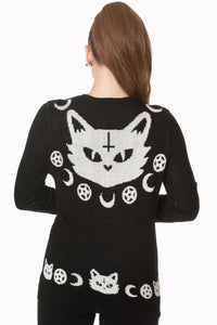 Cat knit jumper - Banned apparel