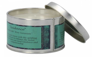 Scented candle tin - Lisa Parker - Guidance wolf - Rose geranium
