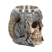 Load image into Gallery viewer, Tankard - Viking Skull Helmet 19cm