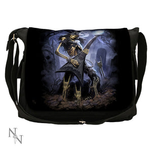 Messenger Shoulder Bag 40cm - Play dead skeleton - James Ryman