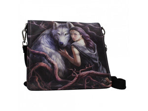 Embossed Shoulder Bag - Soul bond Wolves