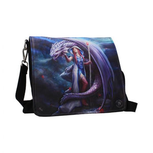 anne stokes dragon mage embossed shoulder bag