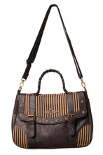Load image into Gallery viewer, Brown stripe steampunk handbag - Banned alternative wear