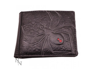 Wallet - embossed black widow