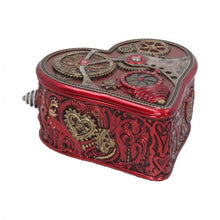 Load image into Gallery viewer, Steampunk heart trinket box - Miles Pinkney 10.5cm