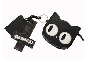 Eye of the beholder cat coin purse - Banned apparel