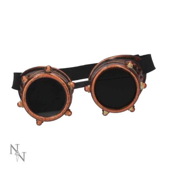 Steampunk goggles - bronze with rivets