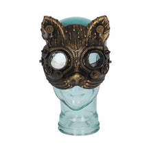Load image into Gallery viewer, Kinetic kitten steampunk mask