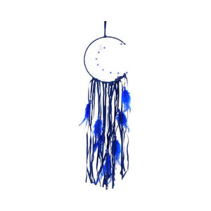Dreamcatcher - moon dreams 15cm blue