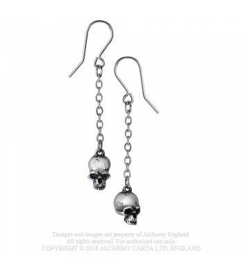 Deadskull ear droppers - Alchemy Gothic