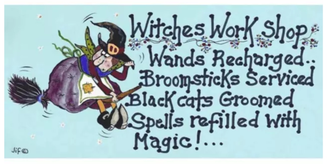 Hanging sign - Witches workshop