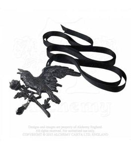 Harbinger Raven necklace - Alchemy Gothic