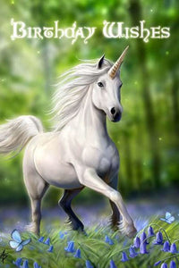 Greeting card - unicorn - birthday