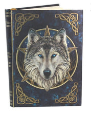 Load image into Gallery viewer, Embossed wolf 'wild one' journal 17cm