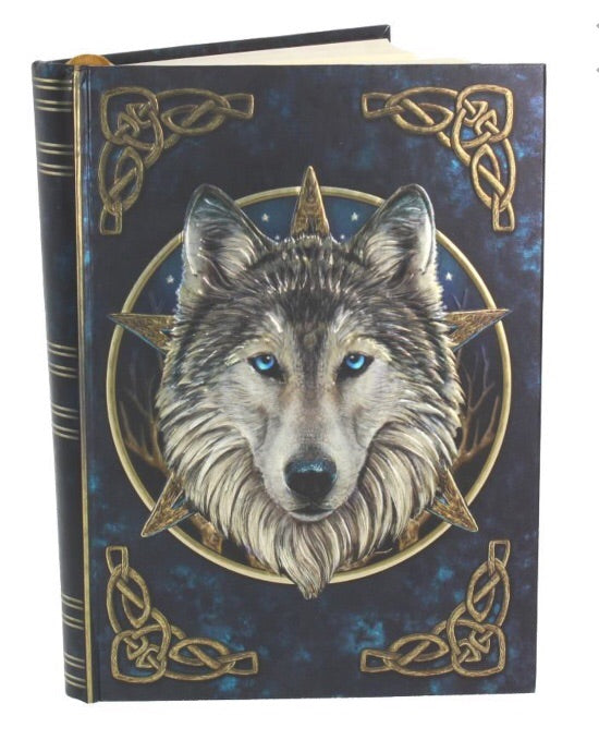 Embossed wolf 'wild one' journal 17cm