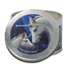 Load image into Gallery viewer, Scented candle tin - Lisa Parker - Sacred love unicorn - Jasmine tea