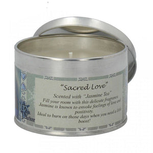 Scented candle tin - Lisa Parker - Sacred love unicorn - Jasmine tea