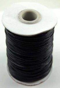 Black cord - waxed black cotton cord