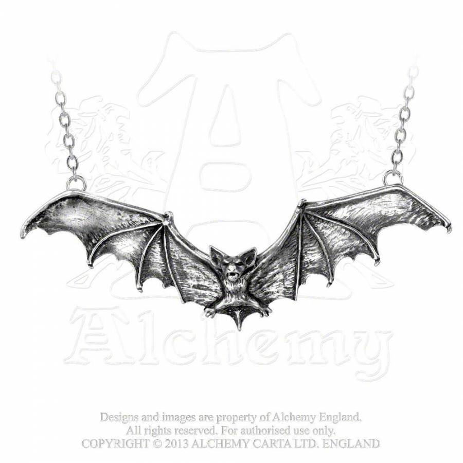 Gothic Bat necklace - Alchemy Gothic